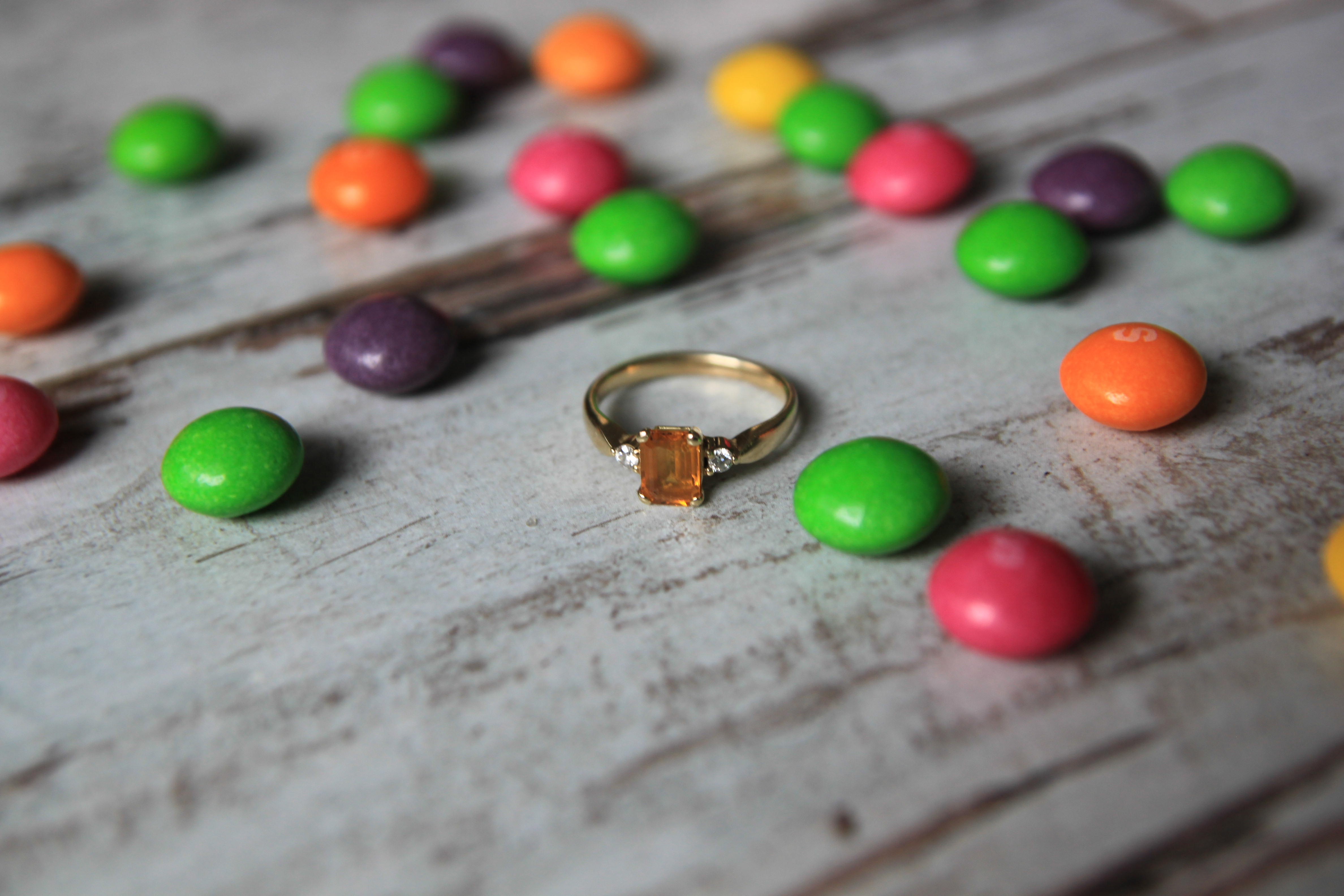 pomysłowapannamłoda/pierścionek zaręczynowy - cytryn/engagement ring - yellow quartz/skitlles
