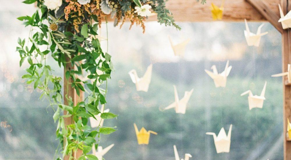 pomysłowa panna młoda origami na ślubie