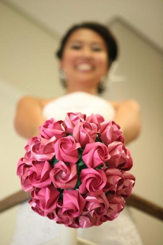 pomysłowa panna młoda - origami na weselu